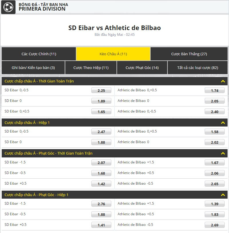 keo bong da dafabet SD Eibar vs Athletic de Bilbao