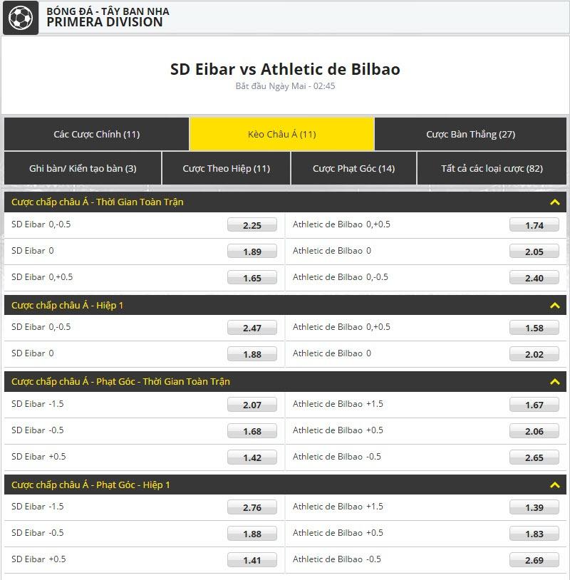 keo bong da dafabet SD Eibar vs Athletic de Bilbao