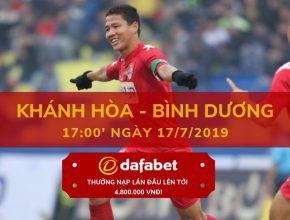 V-League 2019 Vòng 16 Khánh Hòa vs Bình Dương dafabet