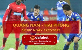 V-League 2019 Vòng 16 Quảng Nam vs Hải Phòng dafabet