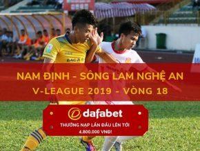 [V-League 2019, Vòng 18] Nam Định vs Sông Lam Nghệ An 3