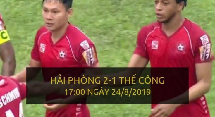 Hải Phòng 2-1 Thể Công Viettel (Highlight V-League 2019)