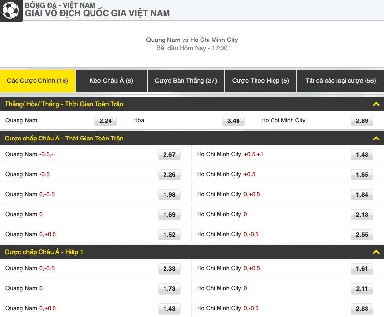 dafa [V-League 2019, Vòng 20] Quảng Nam vs TP. Hồ Chí Minh