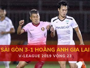 Highlight: Sài Gòn 3-1 Hoàng Anh Gia Lai (V-League 2019 - Vòng 23)