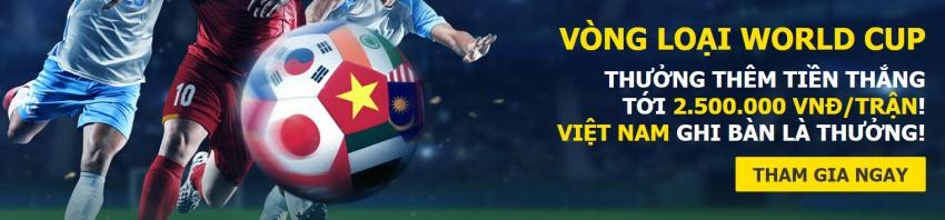 dafabet thuong 2,5 trieu ca cuoc world cup dt viet nam