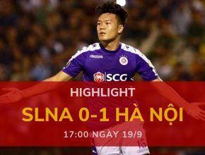Highlight: Sông Lam Nghệ An 0-1 Hà Nội (V-League 2019 - Vòng 24)