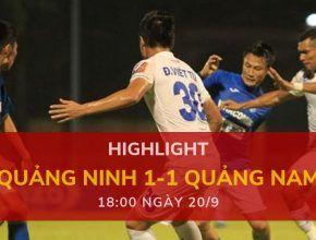 highlight v-league-2019-vong-24-dafabetvietnam (Quảng Ninh 1-1 Quảng Nam)