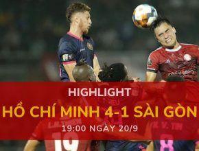 highlight v-league-2019-vong-24-dafabetvietnam (Hồ Chí Minh 4-1 Sài Gòn)
