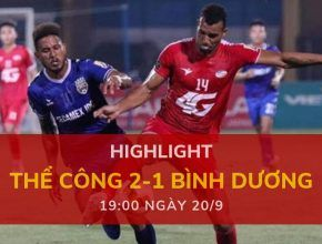 highlight v-league-2019-vong-24-dafabetvietnam (Thể Công 2-1 Bình Dương)