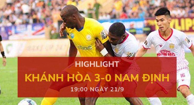 highlight v-league-2019-vong-24-dafabetvietnam (Khánh Hòa 3-0 Nam Định)