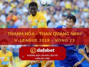 thanh hoa [V-League 2019, Vòng 23] Thanh Hóa vs Than Quảng Ninh