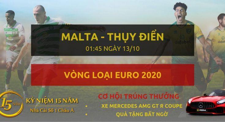 Malta - Thụy Điển - Phần Lan-Vong loai Euro 2020-13-10