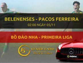 Belenenses - Pacos Ferreira (02h00 ngày 05/11)