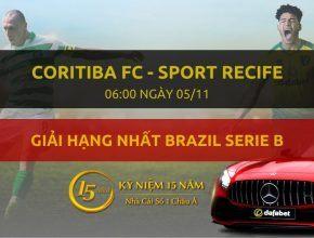 Coritiba FC - Sport Recife (06h00 ngày 05/11)