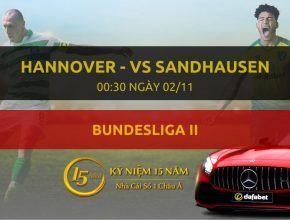 Hannover 96 - Sandhausen (00h30 ngày 02/11)