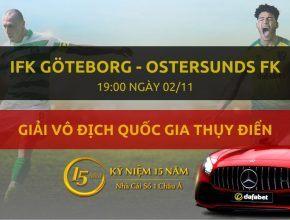 IFK Göteborg - Ostersunds FK (19h00 ngày 02/11)