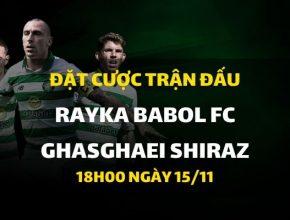 Rayka Babol FC - Ghasghaei Shiraz (18h00 ngày 15/11)