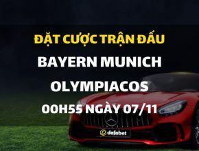 Bayern Munich - Olympiacos FC (00h55 ngày 07/11)