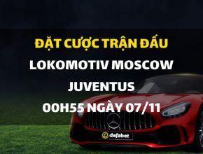 Lokomotiv Moscow - Juventus (00h55 ngày 07/11)