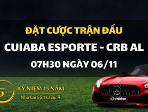 Cuiaba Esporte Clube MT - Crb AL (07h30 ngày 06/11)