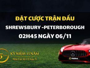 Shrewsbury Town - Peterborough United (02h45 ngày 06/11)