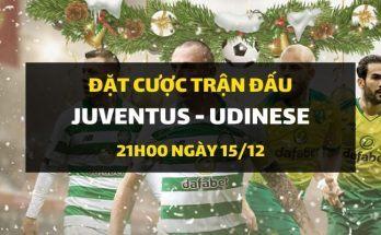 Juventus - Udinese Calcio (21h00 ngày 15/12)