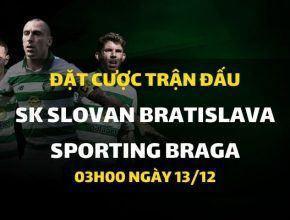 SK Slovan Bratislava - Sporting Braga (03h00 ngày 13/12)
