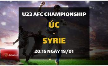 Dự đoán Úc - Syrie (18/01) - Tứ kết U23 Championship Châu Á 2020