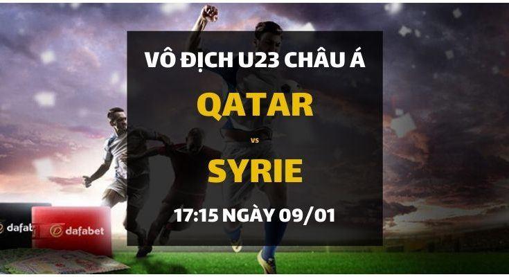 Đặt cược Qatar - Syrie (17h15 ngày 09/01)