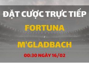 Fortuna Dusseldorf - Borussia Monchengladbach (00h30 ngày 16/02)