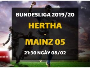 Hertha Berlin - Mainz 05 (21h30 ngày 08/02)